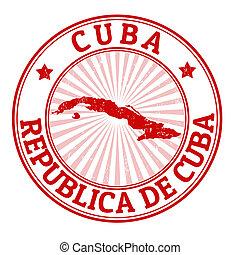 El sello de Cuba