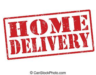 El sello de entrega en casa
