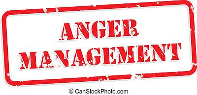 El sello de goma de la ira