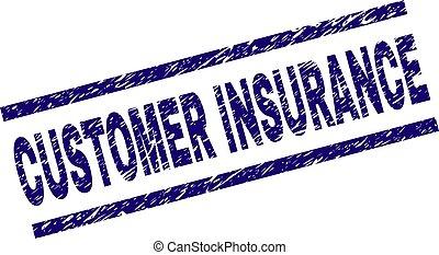 El sello de sello de sellos de seguros de clientes de Grunge