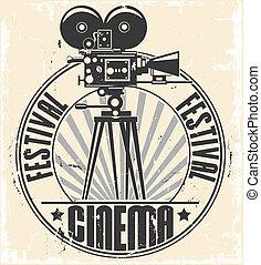 El sello del festival de cine.
