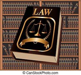 El sello del libro de leyes y la biblioteca
