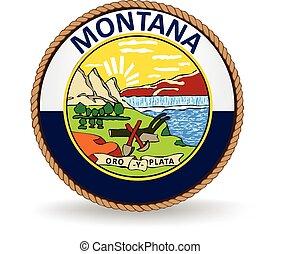 El sello estatal de Montana