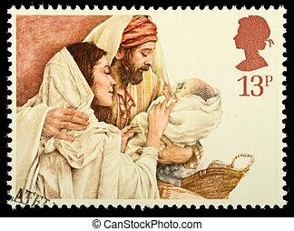 El sello postal de Navidad