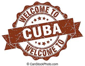 El sello redondo de Cuba