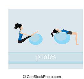El set de ejercicios de pilates