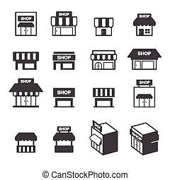 El set de icono de la tienda