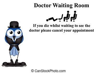 El signo de la sala de espera