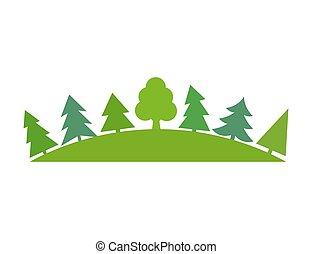El simbo del bosque verde
