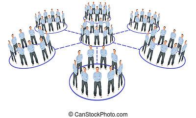 El sistema de cooperación de la gente es un collage