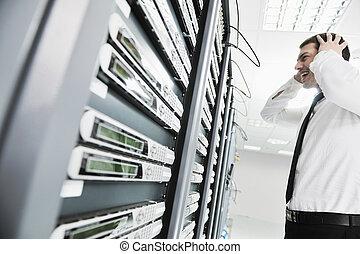 El sistema falla en la sala de servidores de la red