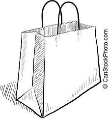 El sketch de la bolsa de compras