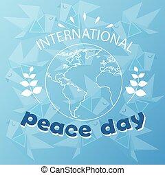 El sketch del poster internacional del día de la paz mundial