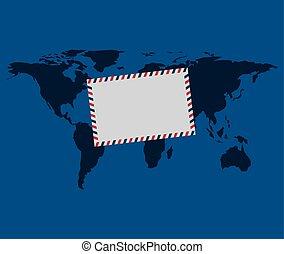 El sobre de entrega del mundo Globe