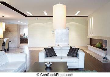 El sofá blanco