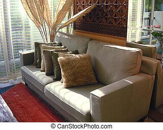 El sofá del salón