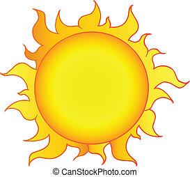 El sol amarillo brilla