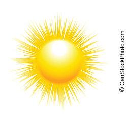 El sol con rayos afilados