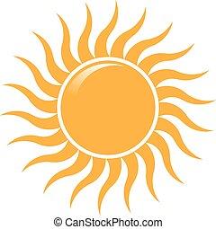 El sol de verano ondea logo. Diseño de logotipo Vector