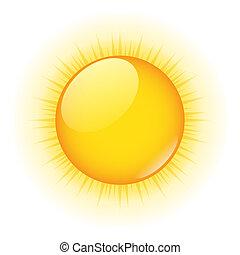 El sol del vector