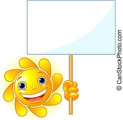 El sol muestra una señal