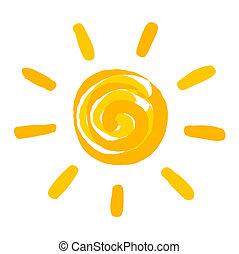El sol pintó ilustración
