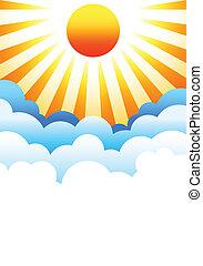 El sol se eleva sobre las nubes