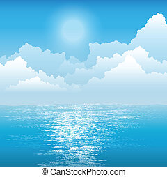 El sol sobre el océano