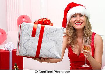 El sombrero de Papá Noel de Navidad