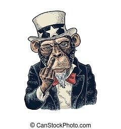 El tío mono Sam con grabados de segunda mano