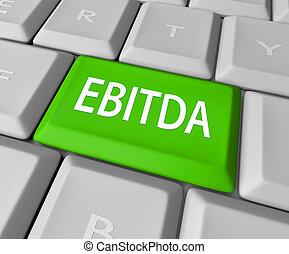 El teclado de EBITDA gana ganancias de ingresos