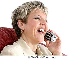El teléfono de una mujer de negocios