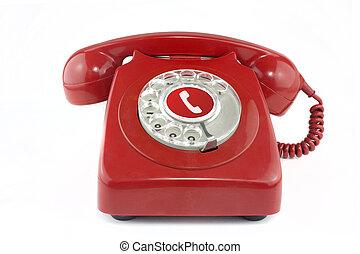 El teléfono del viejo rojo de 1970