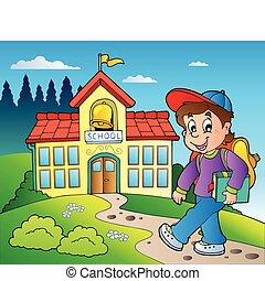 El tema de los chicos y el edificio escolar