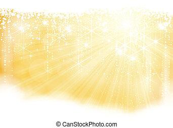 El tema de Navidad de oro