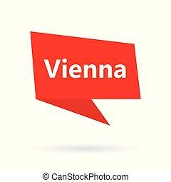 El texto de Viena en la burbuja de espeach