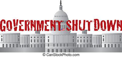 El texto del cierre del gobierno de Washington DC