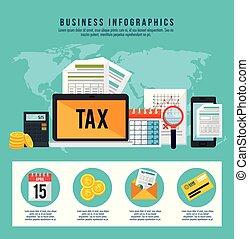 El tiempo de devolución de impuestos pone iconos