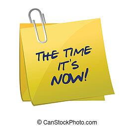 El tiempo está ahora escrito en un poste.