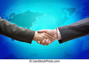 El trato global es azul