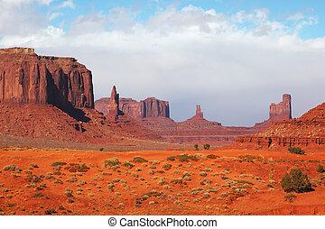 El valle del monumento majestuoso