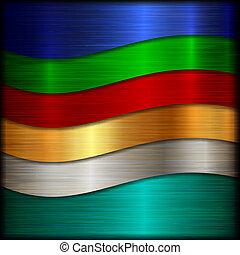 El vector abstracto rozó el fondo de la textura metálica