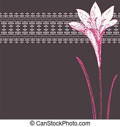 El vector color de iris rosado y adorno