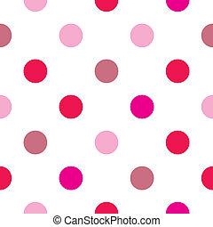 El vector colorido de los puntos rojos