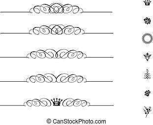 El vector concuerda con el adorno de remolinos
