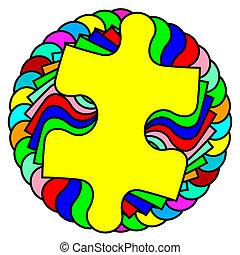El vector de fondo ilustra la esfera de rompecabezas
