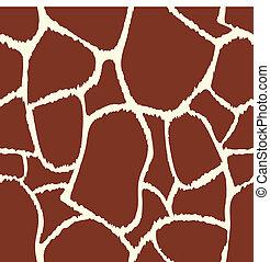 El vector de la jirafa marca textura