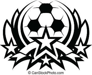 El vector de la pelota de fútbol marca gráfica