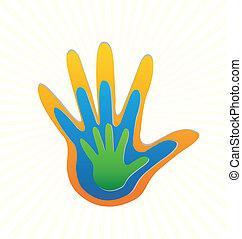 El vector de protección de manos familiares