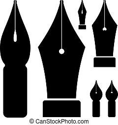 El vector de tinta negra